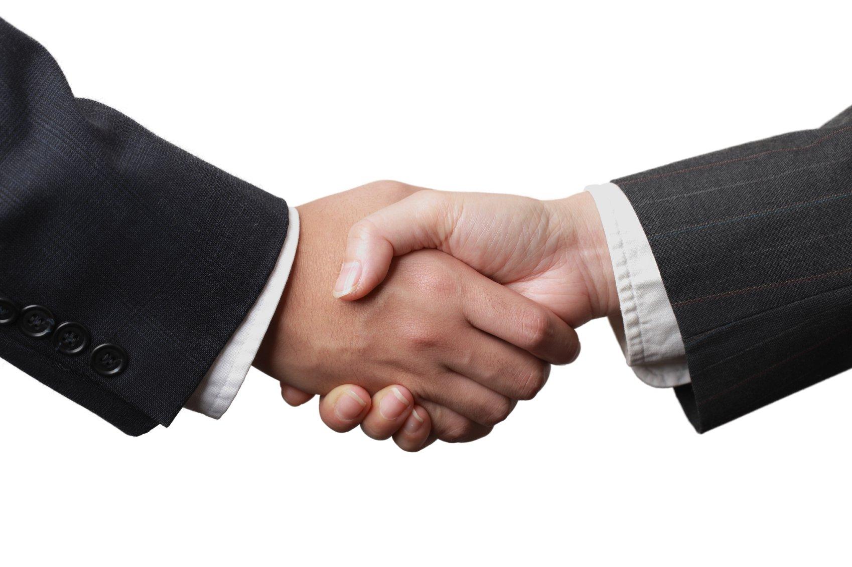 handskakning - signerat kontrakt Barnvakt Stockholm